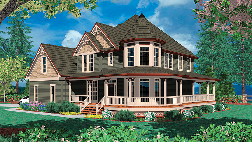 Wrap Around Porches House Plans Numberedtype